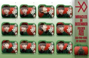 EXO Miracles in December Folder Icon Pack by Rizzie23