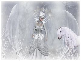 The Ice queen forest by annemaria48