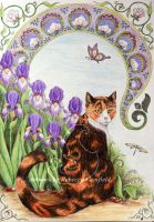 Tigsey among the Irises by chaosia