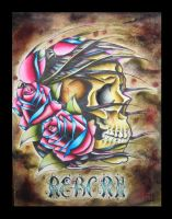 Nutha' skull n' roses by EatMyMeat