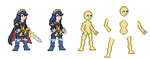 Base Sprite for a woman or lucina by alexmauricio407