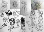 Kalani and Amo sketch dump by Archivist-Kayl