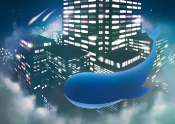 Whale in the Night City by elainechen