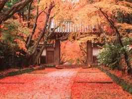 Japanese Temple by ZimTheHomicidal