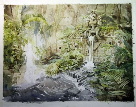 Junes Waterfall. Wip2. by Sidxartxa