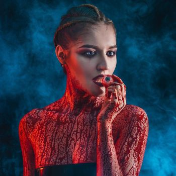 Blood and Neon Demon film by Afemera