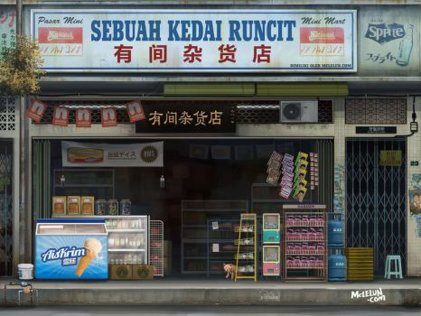 Asian Grocery Shop by mclelun