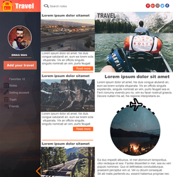 Web Design Template - Travel by exboychallenge
