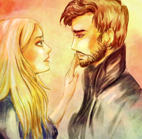 My Kiss is cursed -  Captain Swan by MLostGirl