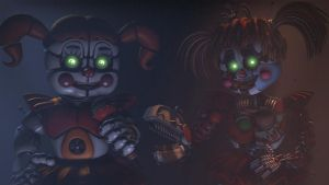 (Sfm fnaf) circus baby and scrap baby by Galvatron2017