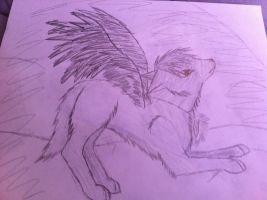 Winged wolf by bpcampbell