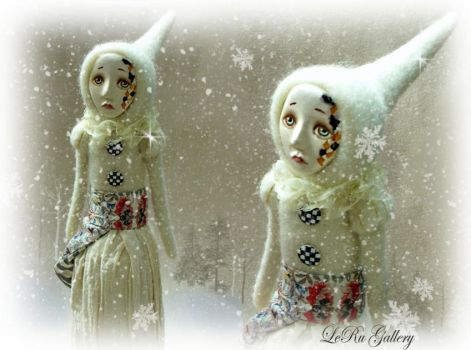 Winter. Art doll leRu Gallery by LeRuGallery