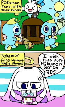I will never play Pokemon Go.. by Angelchao64