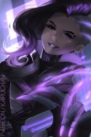 Sombra [Overwatch] by Kairui-chan