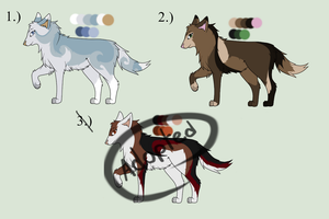 Wolf Adoptables-CLOSED by drawingwolf17