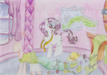 Rarity's speciality- clothes designing by Agnesika