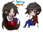 Marceline and Marshall Lee Render by AyumuKatou