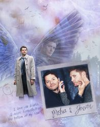 Misha and Jensen (Tumblr Images) by lilyanjudyth