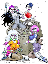 Dumpster Diving Vamps by curtsibling