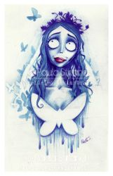 Corpsebride Emily Portrait by hatefueled