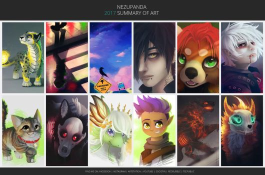 Art Summary2017 by NezuPanda