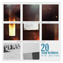 20 icon textures - glass crayo by yunyunsarang