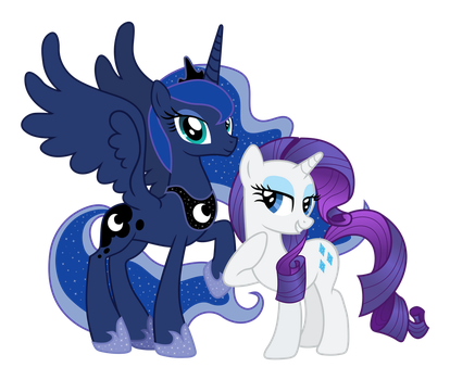 Luna And Rarity by Pantera000