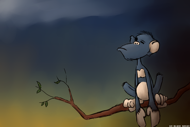 There's a Monkey In The Jungle by Kanji51