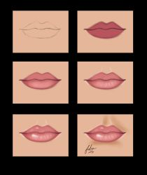 very simple lips painting by vanellia