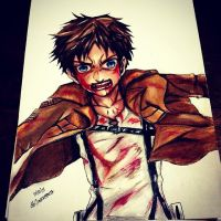 eren jaeger by queentinkerbeth