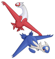 Latias and Latios by WeepingAmongRoses