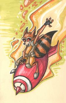 Rocket Racoon by RainbowSpine
