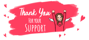Sticker   Thank You For Your Support  By Seraph He by Seraph-Heart