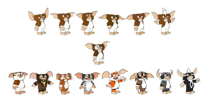 All the Mogwai by theoctagon0