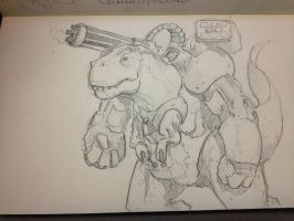 Supersaurus Fanart Pencil by Rafta