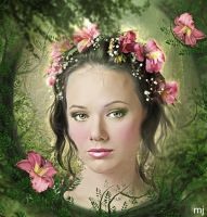 Portrait of a fairy by Eithen