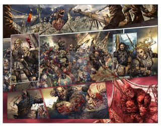 Vikings : Uprising #1 Page 2-3 by kevinenhart