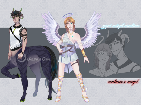 [ Yaoi Adopt Auction ] Angel x Centaur | CLOSED by UmbraOwl