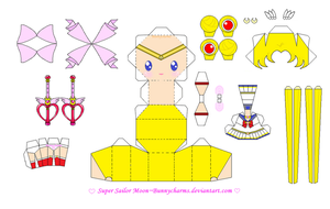 Super Sailor Moon Papercraft Template by bunnycharms