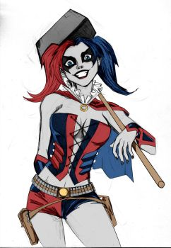 Harley Quinn Sketch By Lucianovecchio by Kenkira