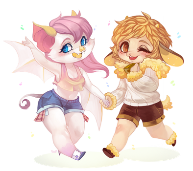Confetti - chibi commission by clover-teapot