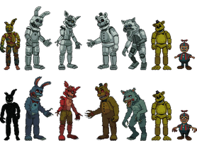 Project box characters full body's by AgentPrime