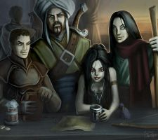 My DnD Party by The-Unj
