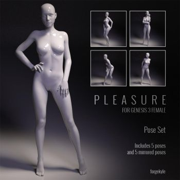 Pleasure Pose Set for Genesis 3 Females by forged3DX