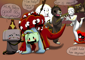Rescue from a fangirl by Creeperchild