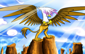 Gryphon Glory by flamevulture17