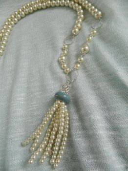 Beaded Tassel Necklace by DOC-Ash1391
