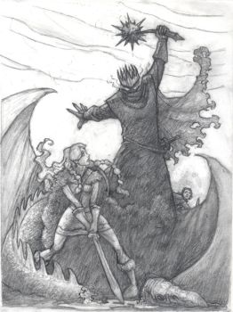 Eowyn and the Nazgul by TheFool432