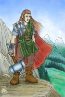 Dwarven hero by melyanna