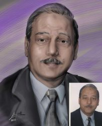 my uncle's portrait by LamaBayoun